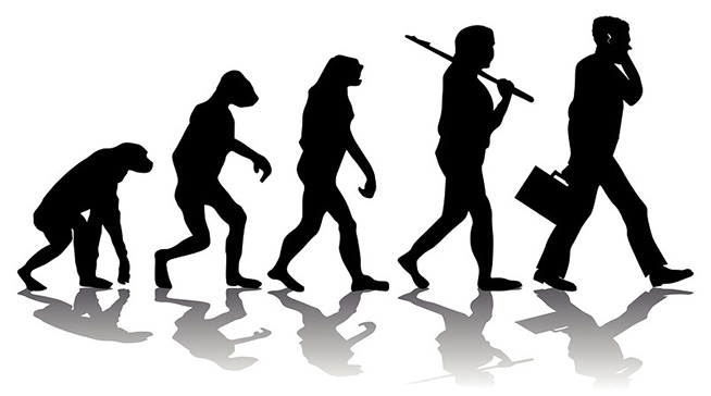 Evolution of man artwork